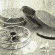 Grunge films reels - Stock Photo
