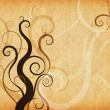 Foto de Stock  : Grunge swirls and curls