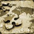 Royalty-Free Stock Photo: Grunge world jigsaw