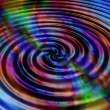 Rainbow ripples — Stock Photo