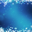 Snowflakes and stars background — Stock Photo