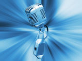 Retro microphone — Stock Photo