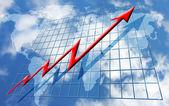 Stijgende globale winst — Stockfoto