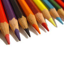 Coloured pencils isolated on a white background — Stock Photo