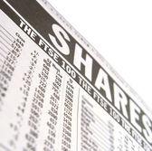 Shares close up — Stock Photo
