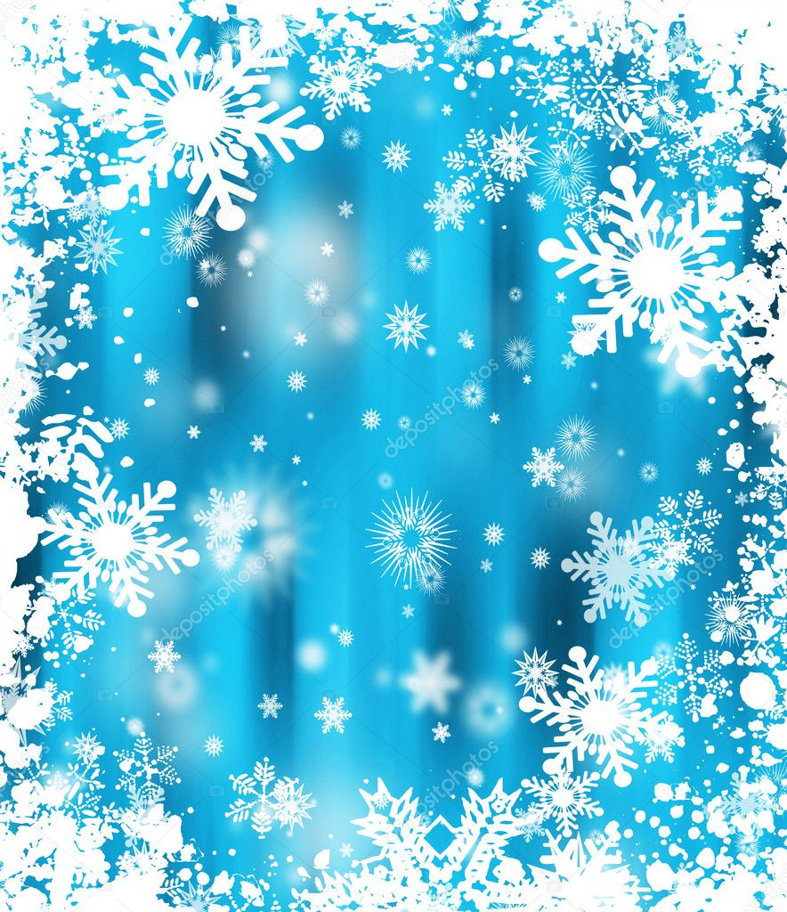 Grunge snowflake background  Stock Photo #4390670