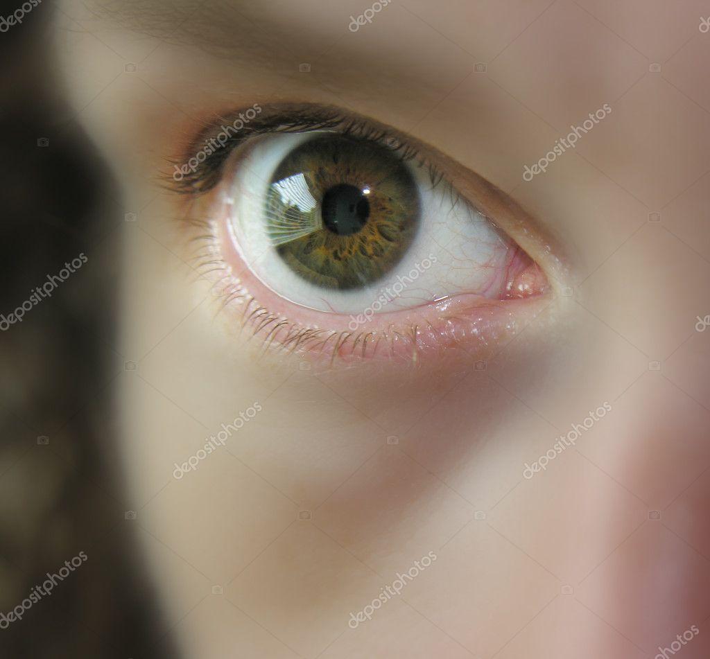 Female eye - very soft focus on everything but the eye ...