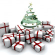 Gifts under a Christmas tree — Foto de Stock