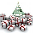 Gifts under a Christmas tree — Stock Photo #4404221