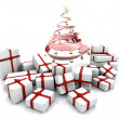 Stock Photo: Gifts under Christmas tree