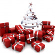 Gifts under a Christmas tree — 图库照片