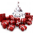Royalty-Free Stock Photo: Gifts under a Christmas tree