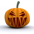 Stock Photo: Scary pumpkin