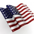 Glass American flag — Stock Photo #4407784