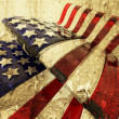 grunge american flag — Stock Photo