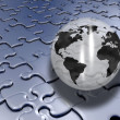 Jigsaw globe — Stock Photo #4408806