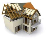 строящийся дом — Стоковое фото