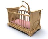 Baby's cot — Stock Photo