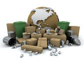 Global recycling — Stock Photo