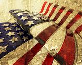 Grunge 美国国旗 — 图库照片