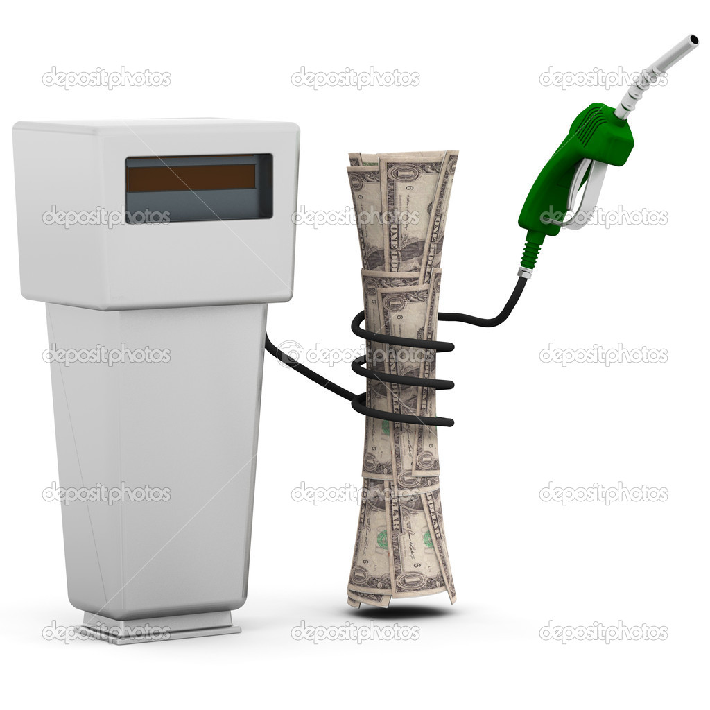 3D conceptual image depicting rising fuel prices — Stock Photo #4405554
