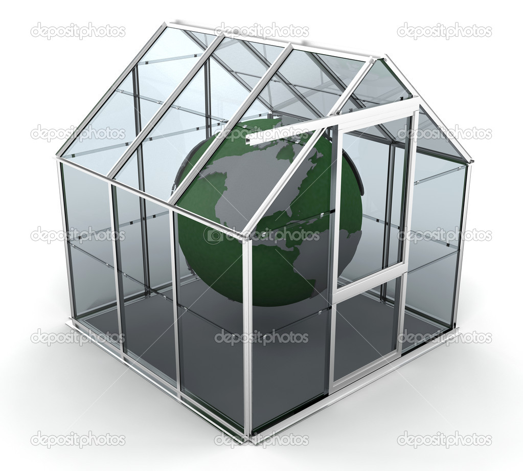 3D rendered image depicting global warming — Stock Photo #4405764