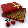 Box of chocolates — Stock Photo