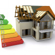 House with energy ratings — Foto Stock