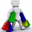 Person with shopping bags — Stock Photo