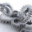 Foto Stock: Interlocking gears