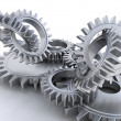 Foto de Stock  : Interlocking gears