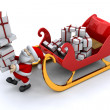 Santa and his sleigh — Stock Photo