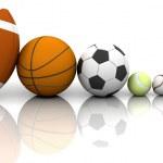 Sports balls — Stock Photo #4414323