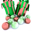Royalty-Free Stock Photo: Christmas gifts and baubles