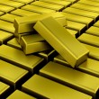 Gold bullion bars - Stock Photo