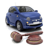Car auction — Stock Photo