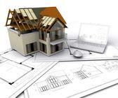 Casa en construcción — Foto de Stock