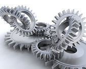 Interlocking gears — Foto Stock