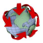 глобальная сеть — Стоковое фото