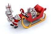 Santa and his sleigh — Stock Photo
