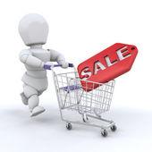Shopping i försäljningen — Stockfoto