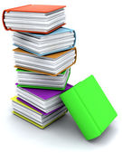 3d charicature render of a stack of books — Stock Photo