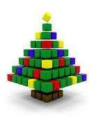 Abstract christmas tree — Stockfoto