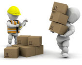 3d removal men — Stock Photo