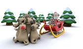 Weihnachtsmann und Geschenke — Stockfoto