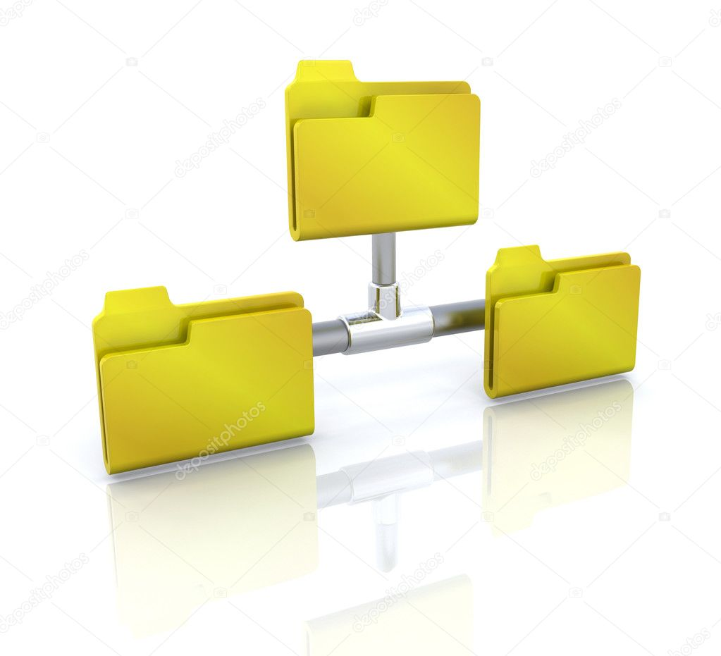 Folders Network Structure Stock Photography - Image: 34539122