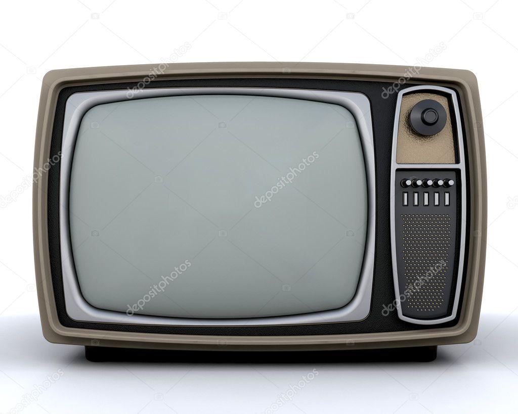 复古电视 - 图库图片