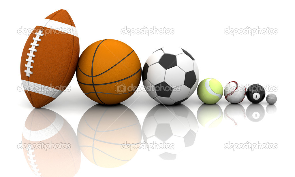 Various sports balls — Stock Photo #4414323