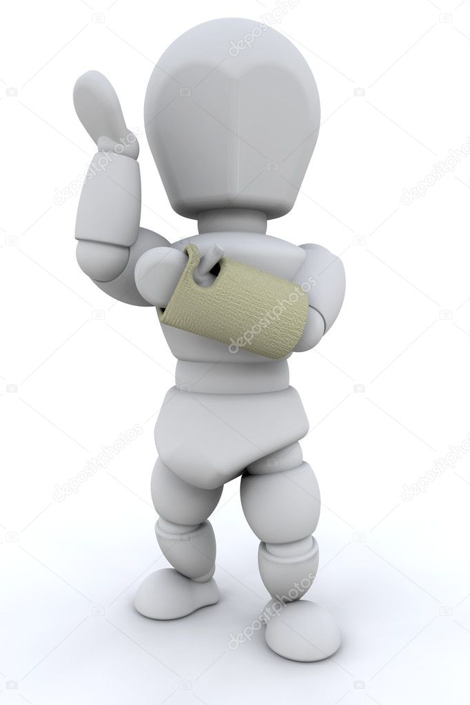 3D render of a person witha  broken wrist in a cast — Stock Photo #4414777