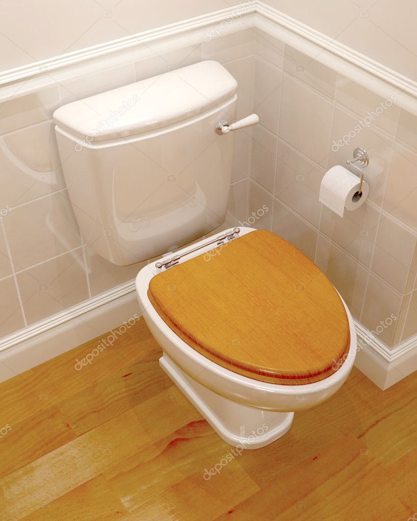 3d render of a classic toilet  Stock Photo #4415043
